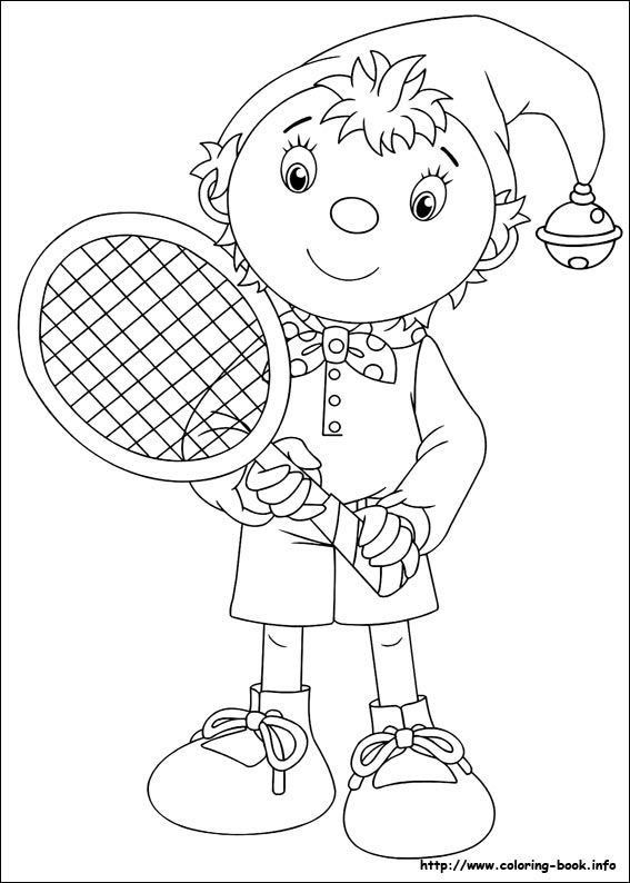 noddy coloring picture