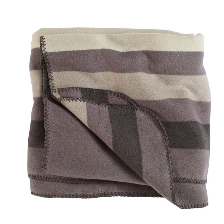 Things aren't always black and white. Sometimes they're grey. And sometimes they're adorned with stylish stripes. And sometimes they're soft, cozy, and perfect for snuggling. Actually, we're really just talking about this specific blanket.