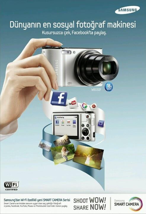 Samsung Galaxy Camera. Çektiginiz fotograflari sosyal aglemlerde paylaşan fotograf makinasi.  http://teknobu.net/samsung-galaxy-kamera-geliyor/
