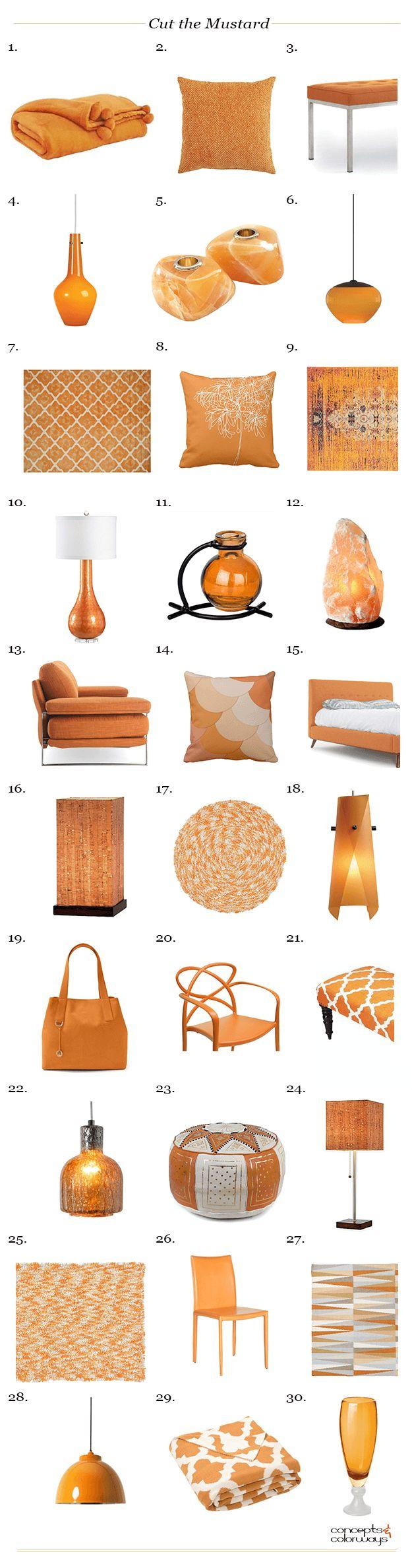 sherwin williams cut the mustard, interiors product roundup, get the look, burnt orange interiors, rust orange interiors, curry orange interiors