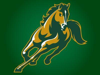 stallions - Green Mustang Horse Logo