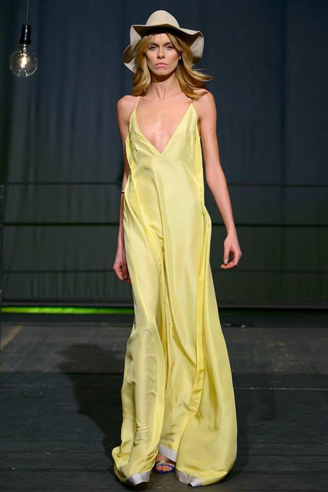 yellow maxi dress s p r i n g - s u m m e r 2 0 1 5 Łukasz Jemioł.  sample sale http://milieubazaar.com