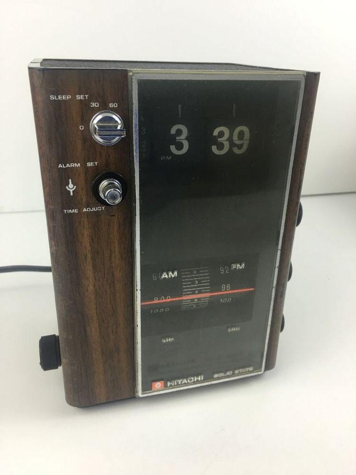 hitachi work radio. hitachi clock radio flip vintage rare working 70\u0027s flipping a/m f/m kc- work d