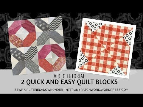 Video tutorial:  2 quick and easy quilt blocks - YouTube