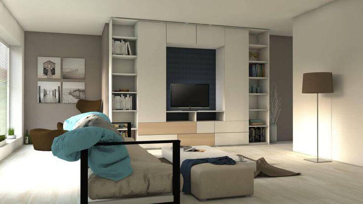 Univerzálna obývačková zostava v svetlých farbách