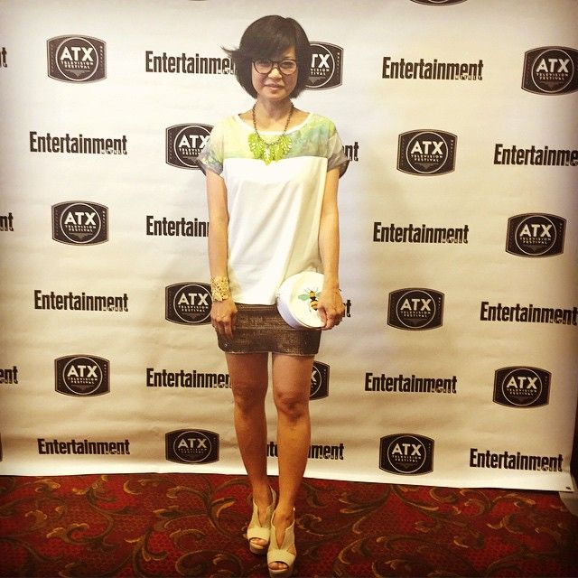 Day 3 at the #atxtelevisionfestival2015 | #SteveMadden Shoes | Blouse, Necklace, and Purse from #HazelChicago | Gold Lace Cuff from #StellaDot | #styledbytristinstyling | 6.5.15