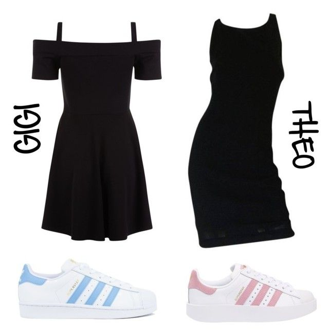 """""""♡ TWINS OUTFIT ♡"""" by theo-janickova on Polyvore featuring Chanel, adidas and adidas Originals"""