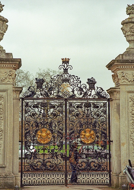 one of the entrance gates into Kew Garden