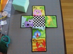 Sew Fun - How to Make Easy Fabric Baby Blocks Good tips for sewing a cube (i.e. for GuineaVision TV sleepy house!)