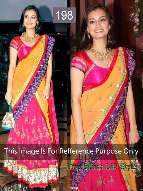 Designer Indian Lehenga saree Bollywood ethnic cultural party wear Banarsi Net silk blowse size M $ 110.00 free shipping