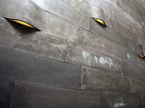 Indoor tile / wall-mounted / concrete / textured WILLOW itaibaron