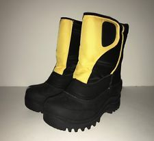 Cold Front Toddler Boy Snow WINTER Boots ~ Size 11 ~ Snow Cub Yellow & Black