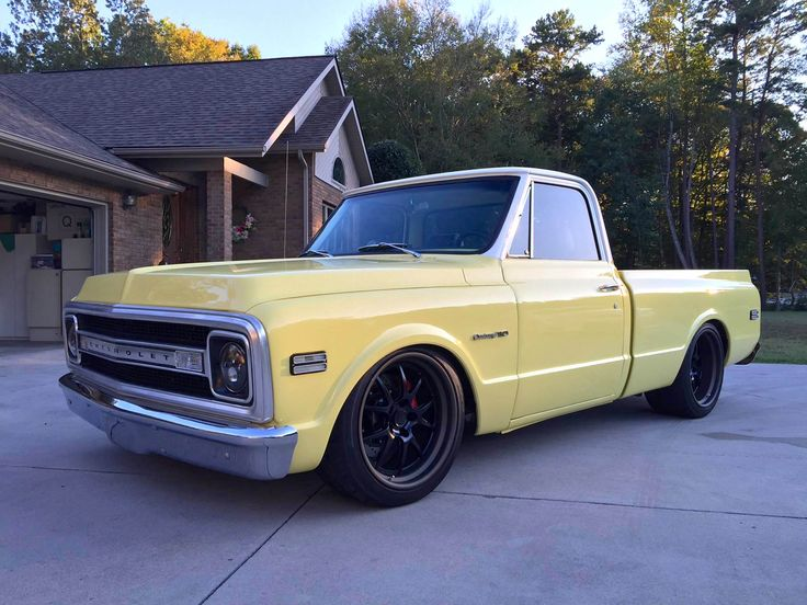 Any plans to spend your weekend building something cool like this? Corey's awesome pro-touring 1969 Chevy C10 pickup truck was built by Corey and his dad, in their own garage! It's powered by a 6.0L Chevy Vortec V8 and rides on Viking Performance coilovers, Wilwood disc brakes, Nitto NT05 tires (275/40r20 & 315/35r20), and 20x10.5/20x12 Forgeline GA3 wheels finished with Satin Black centers and Matte Bronze outers! See more at: http://www.forgeline.com/customer_gallery_view.php?cvk=1756