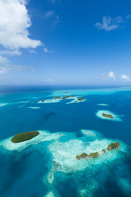 """Tropical paradise islands aerial, Micronesia-visited here with my family when living on """"El Torito"""", my dad's marine research vessel."""