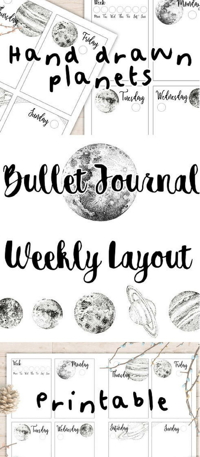 Absolutely beautiful plant themed hand drawn bullet journal printable weekly spread. I am really into the printables lately because I love the pretty arty bujo thing but I just don't have the time or skill to draw it myself! This is awesome because you can just stick it any any notebook and voila. Bonus points for cute washi tape and coloring in. #ad #printable #bulletjournal #bujo #weeklyspread