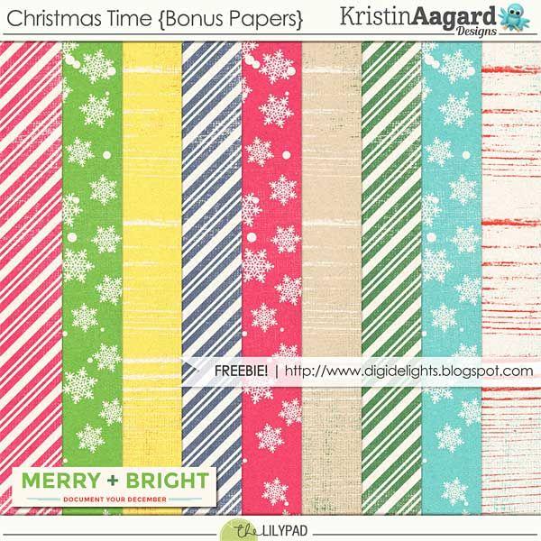 FREE Christmas Time Bonus Papers