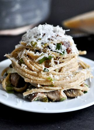 ... Bacon Carbonara, Portobello, Leek Recipe, Sweet Eating, Leek Carbonara