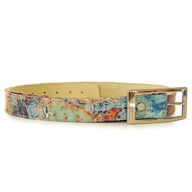 Rust inspiration matching belt. Made from natural imprintedleather. 100%…