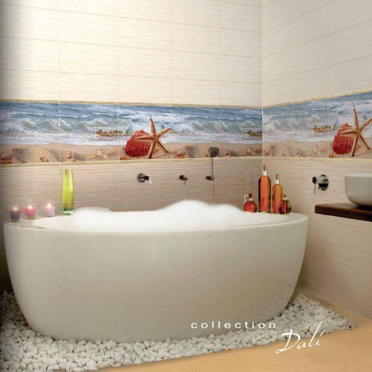 керамическая плитка  для ванной комнаты с рисунком море - Valentto Дали
