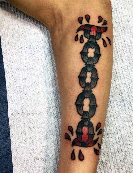 50 Best Chain Tattoo Template Images On Pinterest