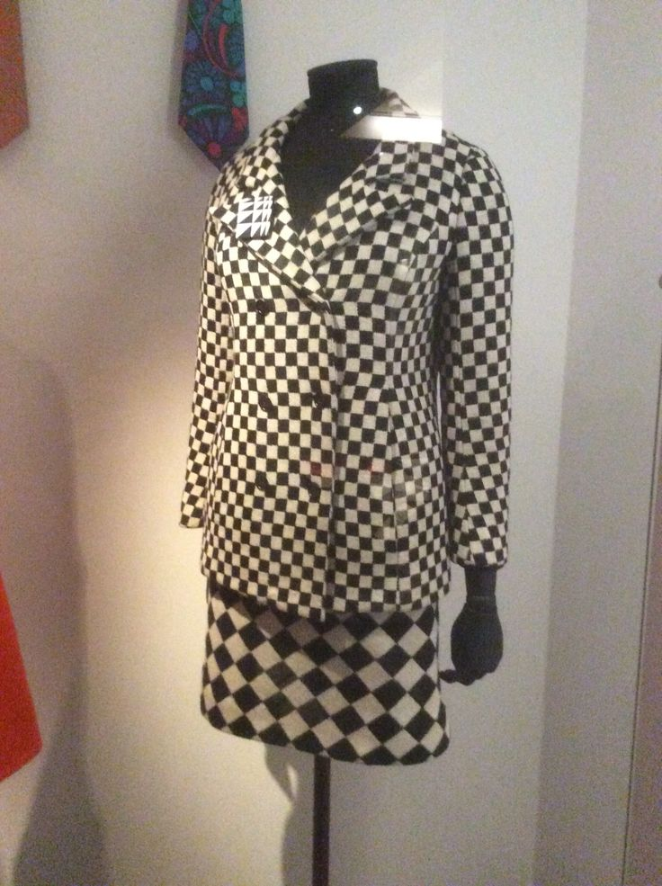 Wool skirt suit, 1964, by Foale and Tuffin. Worn by fashion journalist and costume designer Marit Allen. V and A.