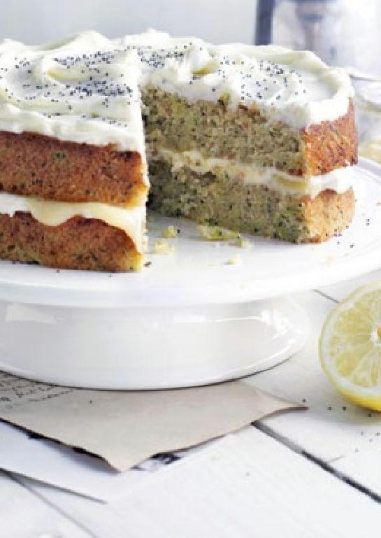 Low Fodmap Gluten Free Recipe Frosted Zucchini Lemon Cake