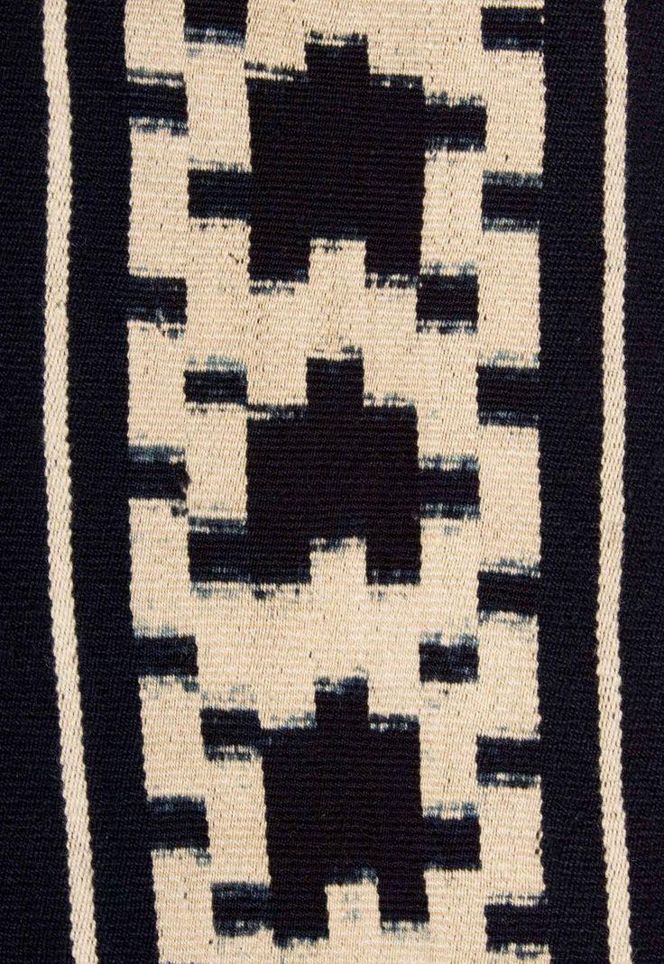 Mapuche poncho detail, Chile