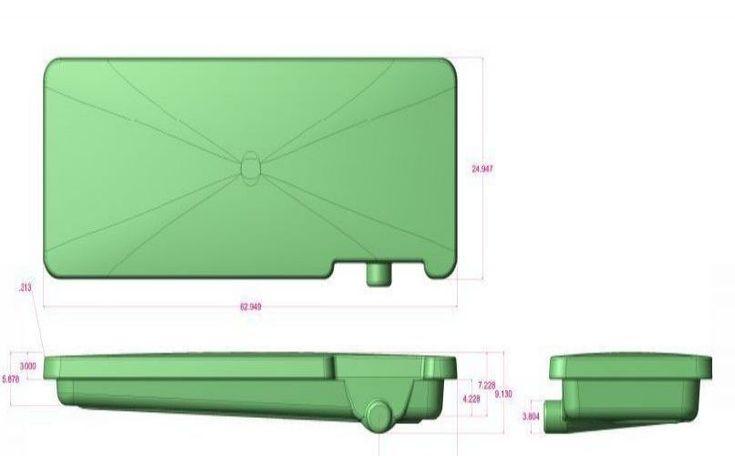"RV Holding Tank 45 Gal 24"" x 63"" x 7"" Waste Black Water Container Toilet New #RVHoldingTank"