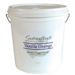 Soothing Touch Brown Sugar Scrub - Orange Vanilla 2 Gal by Soothing Touch. $72.99. Soothing Touch's Brown Sugar Scrub made with 100% Organic Brown Sugar will pamper you and give you the luxurious pleasure of silky soft skin. Fantastic as a full body smoother, Soothing Touch Brown Sugar Scrub gently exfoliates old dry skin away from the surface and helps lock in vital moisture needed to keep your skin looking young and healthy. After just one use your skin is left feeli...