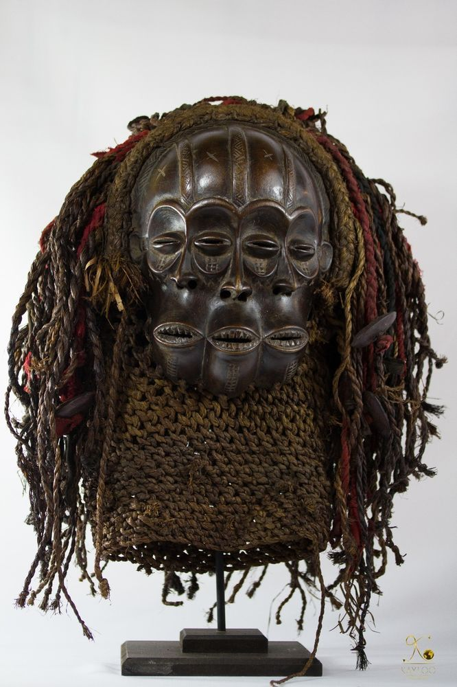 Chokwe 3 Face African Mask Collectors Piece Masques