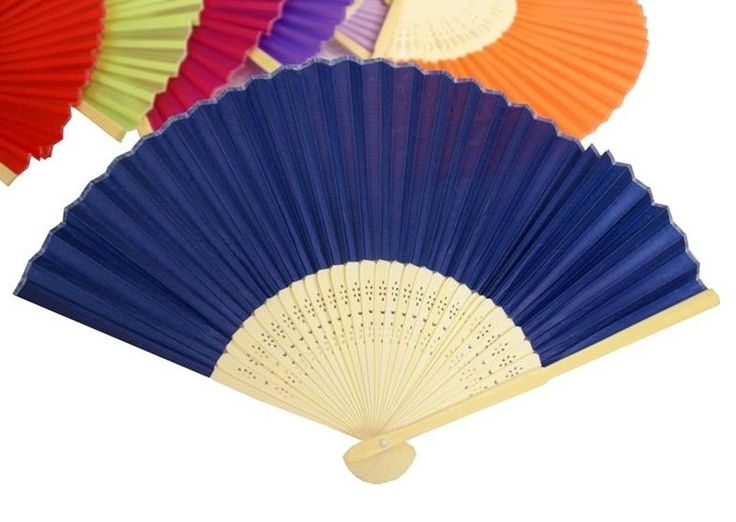 100 Silk FOLDING Handheld FANS Summer Wedding Party Favors Wholesale Decorations
