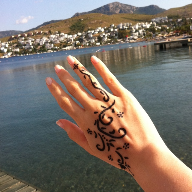 My new tattoo with Indian Hena..