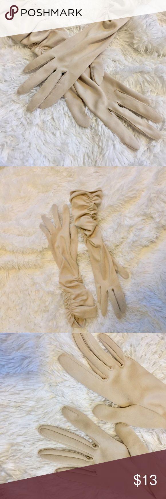 Vintage cream long gloves Vintage gloves. Light spots. Runs small. Vintage Accessories Gloves & Mittens