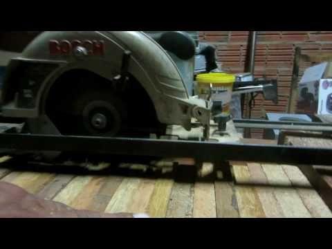 TRILHO PARA BOSCH SERRA MANUAL VIGAS, CAIBROS E ABRIR TABUAS Crosscut Jig for Circular Saw PART 02 - YouTube