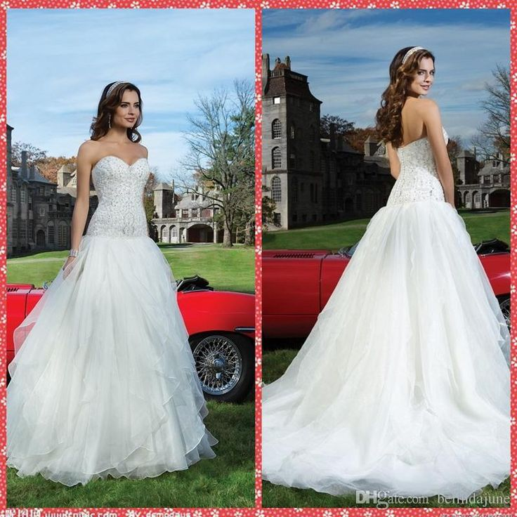 Sweetheart Beaded Crystal Bodice A Line Wedding Dresses Tulle Overlay Chapel Train Garden Bridal Gowns 2015 Modest Vestidos De Novia Wedding Dress Outlet Wedding Dress Stores From Belindajune, $148.75| Dhgate.Com