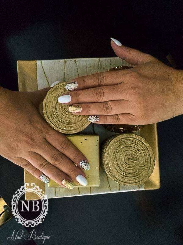 White gold, perfect nails