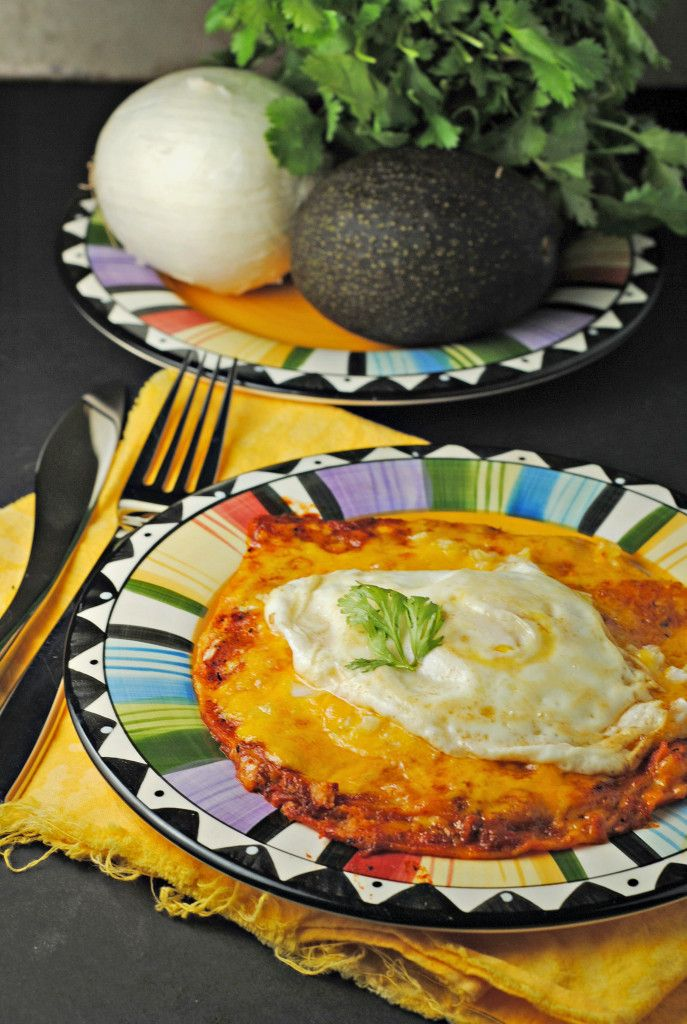 Stacked Enchiladas with a Fried Egg from @Jen @ Juanita's Cocina #recipe #MexicanFood #giveaway