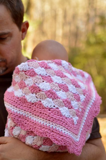 Crochet Pattern Our Father : Baby Blanket Shells of Love pattern by Darleen Hopkins ...
