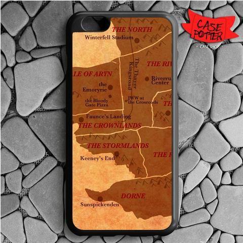 World Map Game Of Thrones iPhone 6 Plus iPhone 6S Plus Black Case