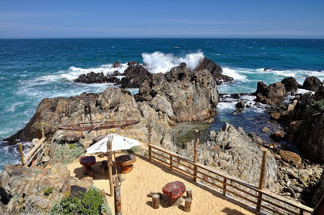 Isla Negra, Chile  Isla Negrais a coastal area inEl Quisco commune in central Chile.   If you visit this coastal town, stop by the famous Chilean Poet, Pablo Neruda's, house museum & indulge in some of his history.