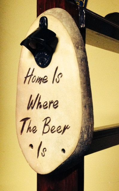 Engraved Stone Beer Bottle Opener by StonewoodCarving on Etsy...I could make this!