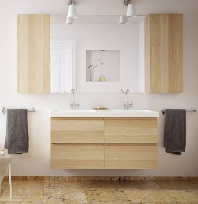 Salle de bain godmorgon ikea bathroom pinterest colors tile and ikea - Ikea salle de bain miroir ...
