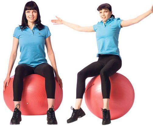 Kroppa kuntoon jumppapallolla