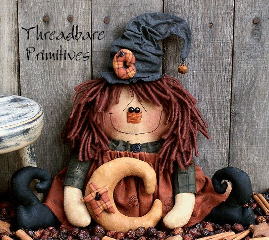 free images to make primitive dolls | Pattern Primitive Folk Raggedy Halloween Witch Doll | eBay