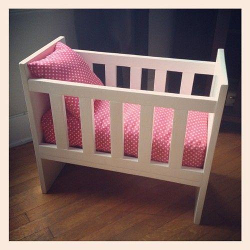 homemade doll crib