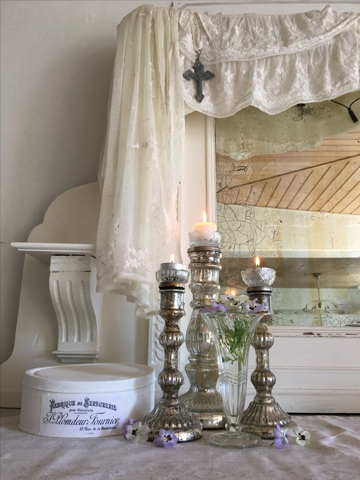 romantic shabby chic candlesticks