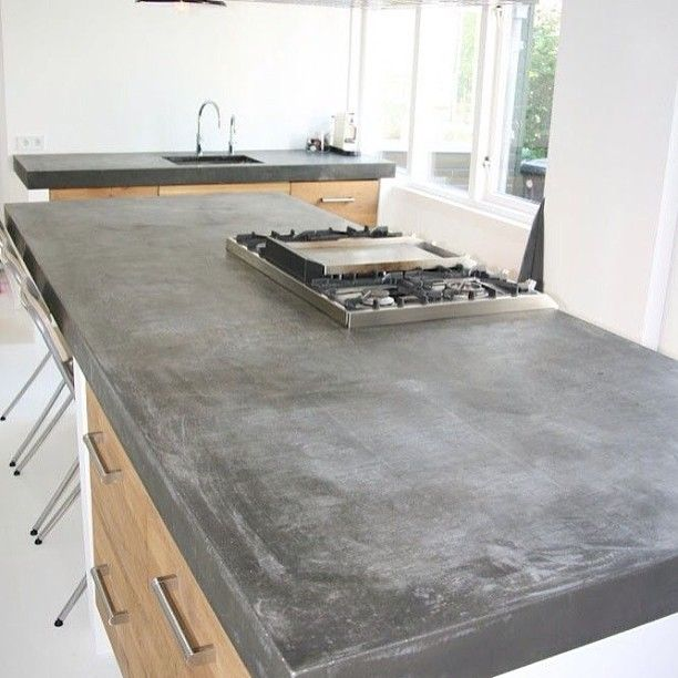 countertop with concrete screed