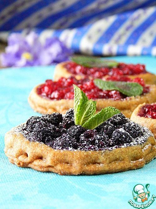 Ржаное постное печенье с ягодами - кулинарный рецепт