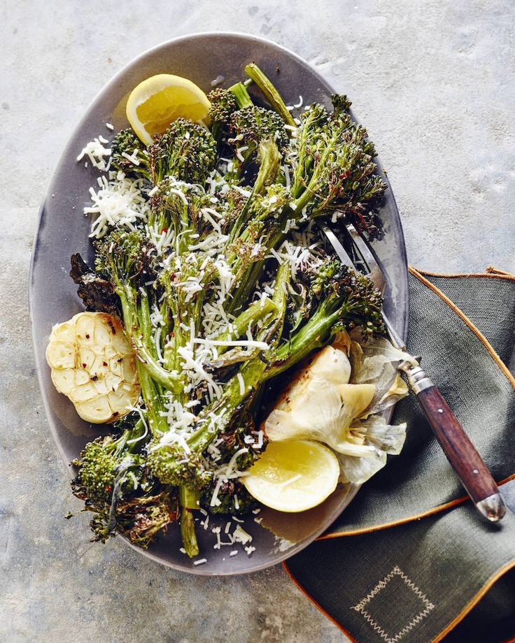 Roasted Broccolini with Garlic and Parmesan from www.whatsgabycooking.com (@whatsgabycookin) hands down the best side dish ever and the broccoli tastes like candy!