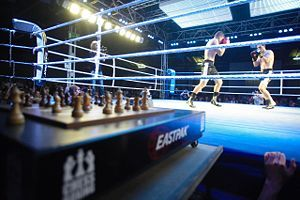 I just learned about chess boxing.  A sport in which you can win by either checkmate or knockout.